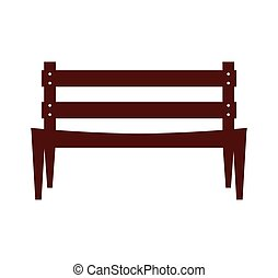 park chair isolated icon