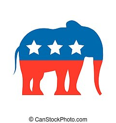 republican party emblem isolated icon vector illustration...