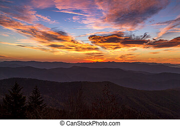 Fall in Great Smoky Mountains National Park - Dramatic...