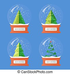 Collection of Christmas Glass Snow Globes - Christmas snow...