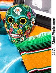 alter at Dia de los Muertos - Skull at Dia de los Muertos,...