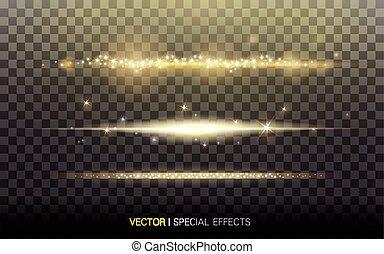 streaks of light material