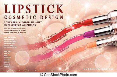bright lipstick ad
