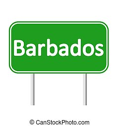 Barbados road sign. - Barbados road sign isolated on white...
