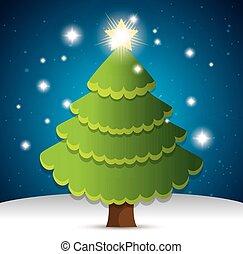 happy merry christmas tree pine
