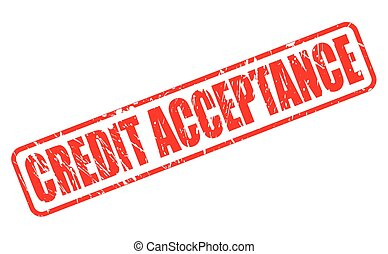 CREDIT ACCEPTANCE red stamp text on white