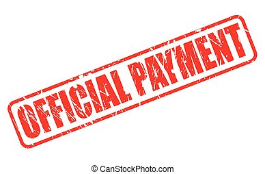 OFFICIAL PAYMENT red stamp text on white