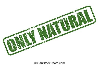 ONLY NATURAL green stamp text on white