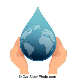earth planet drop water