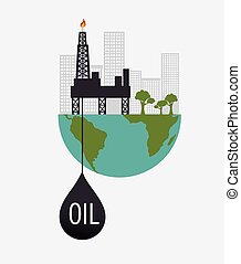 green industry isolated icon