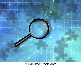 Magnify Glass Puzzle Piece Background