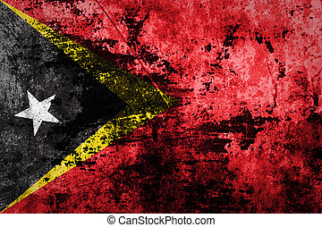 East Timor Flag on dirty paper