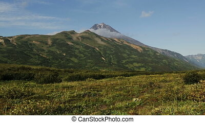 Beautiful view of the hills in the area Vilyuchinsky volcano...