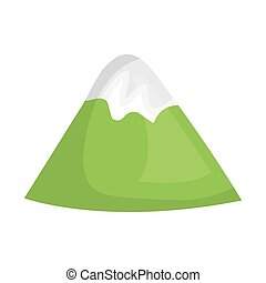 mountains glacier isolated icon vector illustration design
