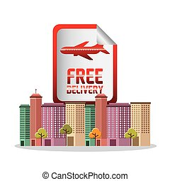 air courier service icon vector illustration design
