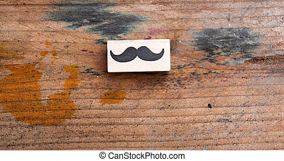 moustaches rubber stamp. Movember men's health awareness...