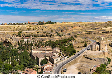 Landscape, Segovia, Spain - Landscape in dry season,...