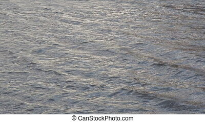 Rippling blue water surface, water river for background,...