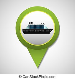 cruise ship transport icon