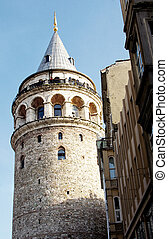 Galata tower - Galata Tower, ancient Genoese tower of...