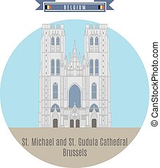 St. Michael and St. Gudula Cathedral, Brussels, Belgium -...