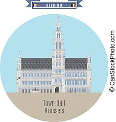 Town Hall, Brussels, Belgium - Famous Places in Belgium:...