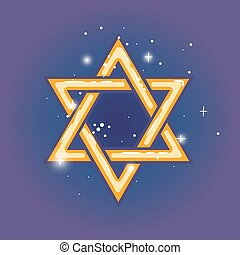 Star of david for hanuka - Star of david. Jewish shield zion...