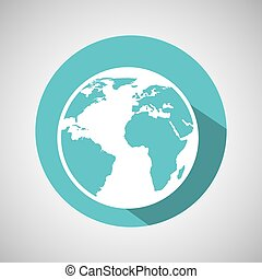 global communication world map icon graphic - global...