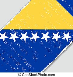 Bosnia and Herzegovina grunge flag. Vector illustration. -...
