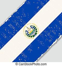 El Salvador grunge flag. Vector illustration. - El Salvador...