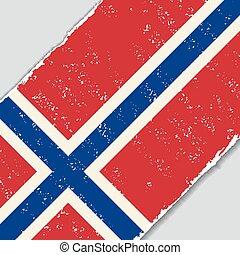 Norwegian grunge flag. Vector illustration. - Norwegian...