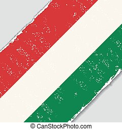 Hungarian grunge flag. Vector illustration. - Hungarian...
