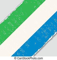 Sierra Leone grunge flag. Vector illustration. - Sierra...