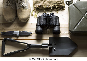 overhead of survival kit - equipment to get by in any...