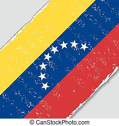 Venezuelan grunge flag. Vector illustration. - Venezuelan...