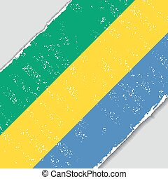 Gabon grunge flag. Vector illustration. - Gabon grunge flag...