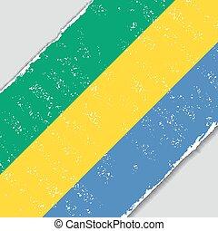 Gabon grunge flag. Vector illustration. - Gabon grunge flag...