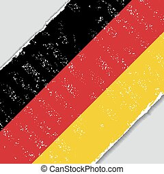 German grunge flag. Vector illustration.