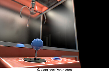 Claw Arcade Game - A 3D render of an empty arcade type claw...