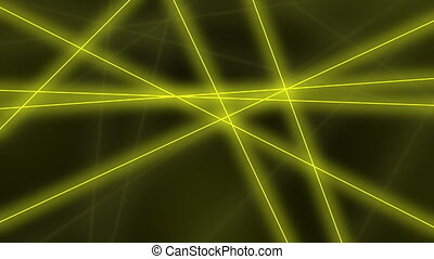 Abstract glowing yellow lines crossings - Hi-tech motion...