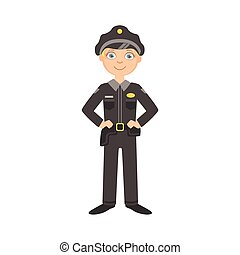 Boy Dressed As Policeman Officer