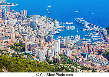 Monaco architecture - aerial view of the city. MOnte Carlo,...
