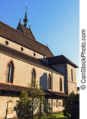 Church of St. Theodore in Basel. Basel, Basel-Stadt,...
