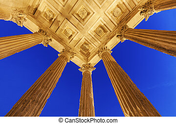 Maison Carree in Nimes - Maison Carree in Nimes. Nimes,...