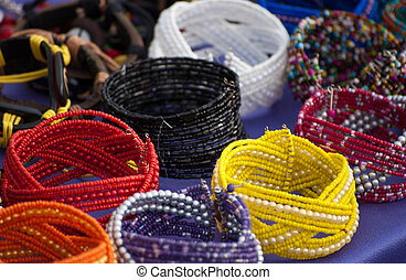 Colorfull bracelets at local market