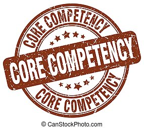 core competency brown grunge stamp
