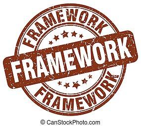 framework brown grunge stamp