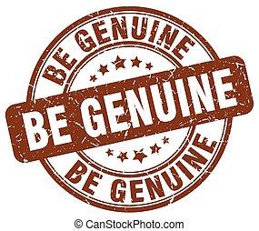 be genuine brown grunge stamp