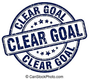 clear goal blue grunge stamp