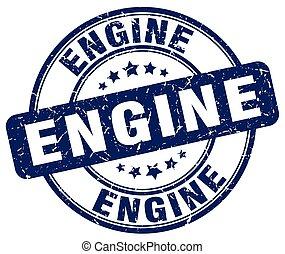 engine blue grunge stamp